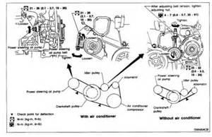 2000 nissan maxima drive belts engine mechanical problem 2000