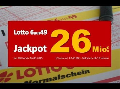 lotto am mittwoch wann lotto news am mittwoch 16 09 satte 26 millionen