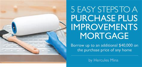 5 easy steps to a purchase plus improvements mortgage