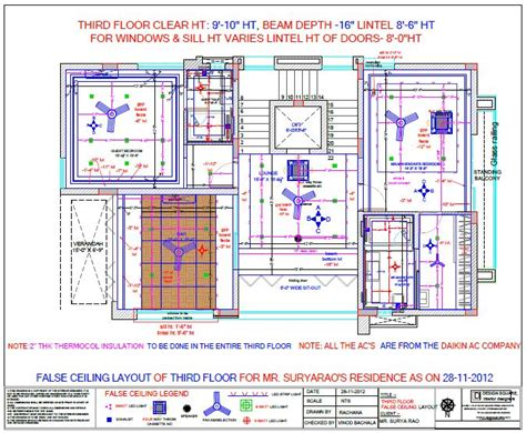 False Ceiling Layout by Residence Theme By Rachana Palakurthi At