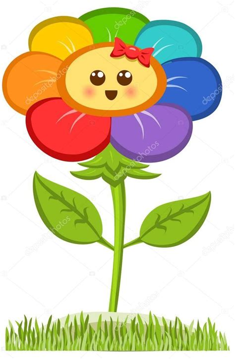 fiore clipart fiore sorridente margherita felice isolato su