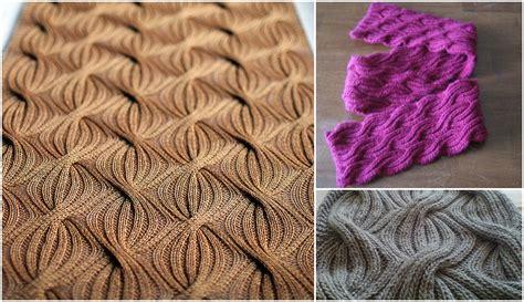 how to knit brioche stitch reversible cabled brioche stitch scarf pretty ideas