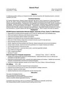 Resume Templates For It Professionals by Sle Resume For Experienced It Professional Sle