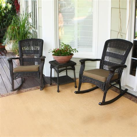 3 outdoor patio set shop tortuga outdoor portside 3 wicker patio