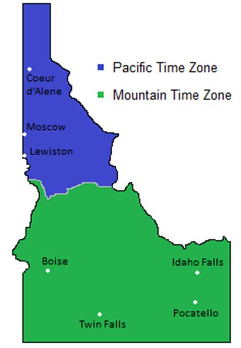 boise idaho time zone map map