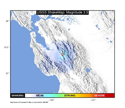san jose earthquake map usgs did you feel it earthquake rattles silicon valley
