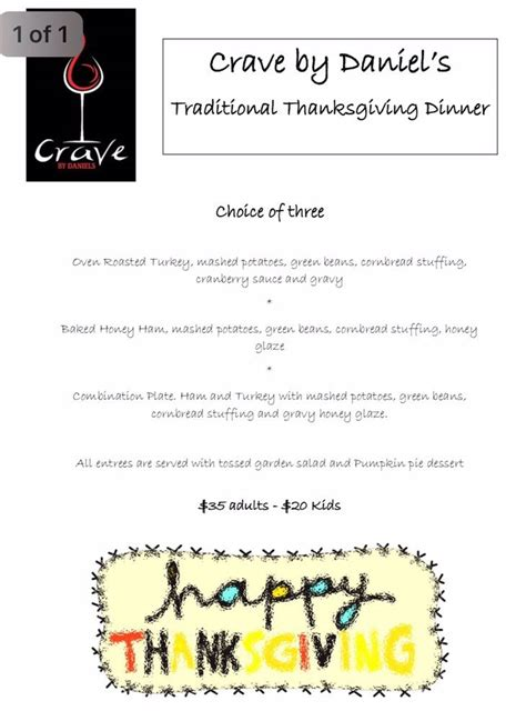 this year in review daily crave this year we will be open for thanksgiving dinner we will