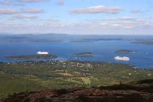 How To Get To Cadillac Mountain File Bar Harbor From Cadillac Mountain Jpg Wikimedia Commons