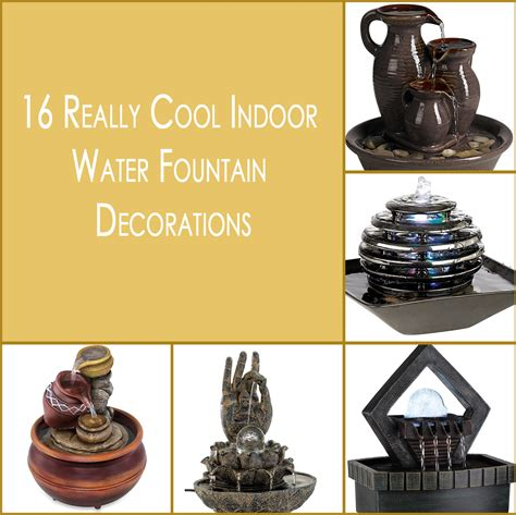 16 really cool indoor water fountain decorations style