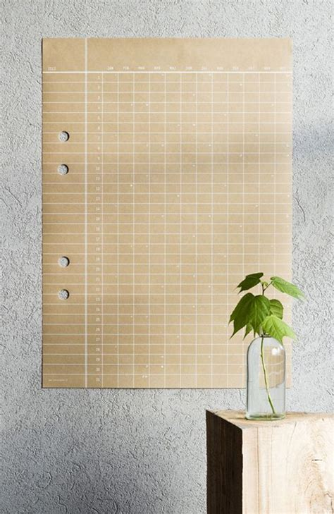 Paper Craft Calendars - large paper wall calendar calendar template 2016