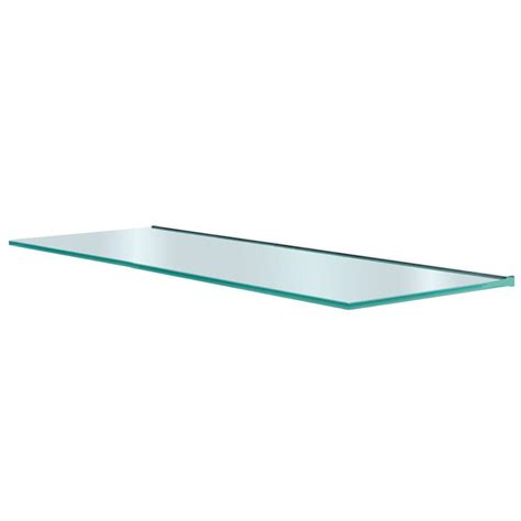 home depot glass shelves glacier 36 in x 12 in glass shelf gl9030op the home depot