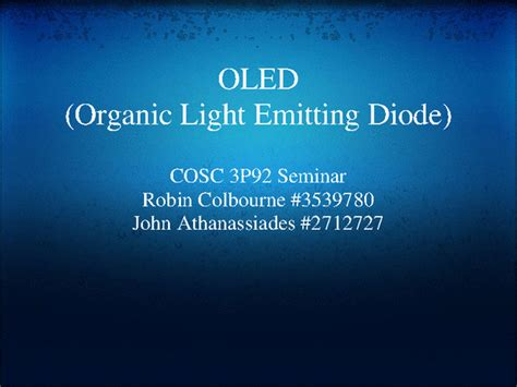 what is an organic light emitting diode oled organic light emitting diode docslide