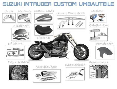 Fischer Motorrad Ersatzteile by Suzuki Intruder Custom Umbauteile Motocykle
