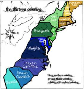 united states 13 colonies map the original 13 colonies of united states map