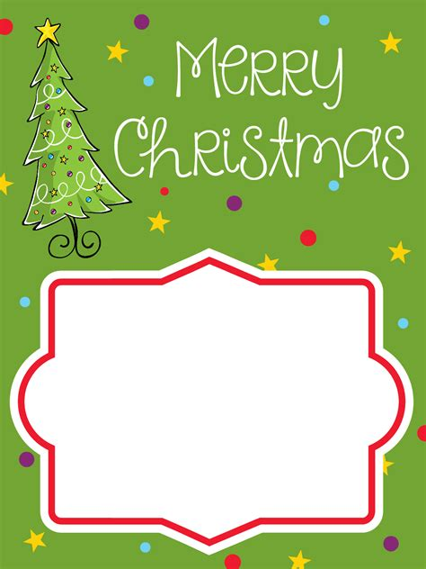 Christmas Card Gift - printable christmas gift card holders fun squared