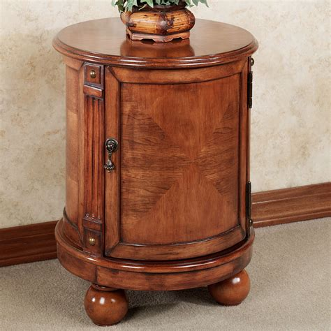 accent table storage eldred round chairside accent storage chest