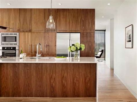 Modern Walnut Kitchen Cabinets | modern walnut kitchen cabinets indelink com