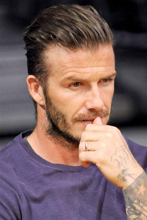 Peak Of Chic by David Beckham S Slicked Back Hairstyle Celebrity Hair