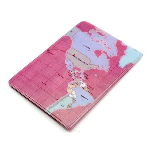pattern credit card holder 1pc cheap wolrd map pattern passport case credit card