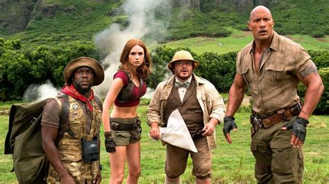 jumanji film review peter travers on jumanji welcome to jungle decent