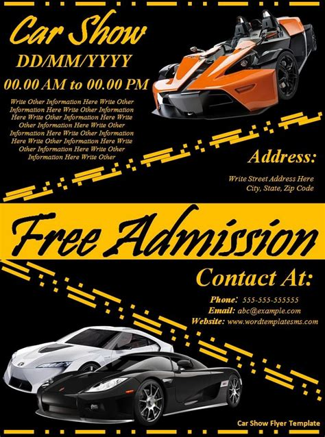car flyer template car show flyer template best word templates