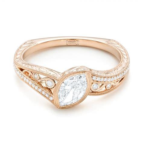 Handmade Gold Engagement Rings - custom gold engagement ring 102869