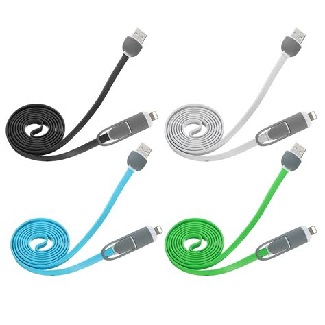 Imono Usb Cable Data C 001 Iphone Blue 2 1a 8 pin micro usb combo data cable for iphone sumsang