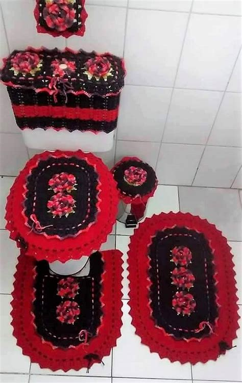 crocheted bathroom set ideas for crochet lovers diy motive
