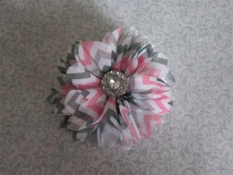 baby white gray pink headband chiffon flower hair bow pink grey embellished chevron chiffon flower hair clip