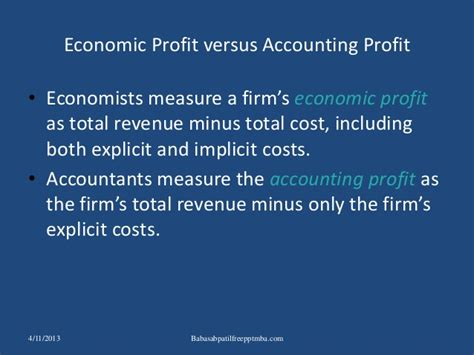 Of Mba Total Cost by The Costs Of Production Ppt Mba Finance Cost Accountancy