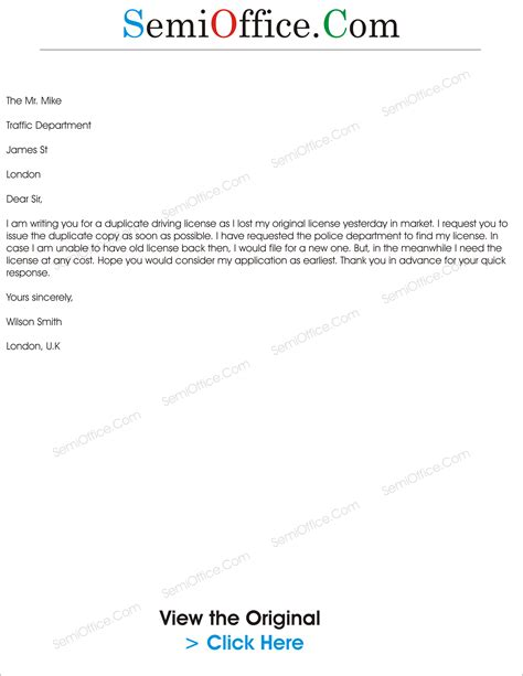 application letter for driving license request letter archives page 5 of 9 semioffice