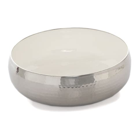 Lucky Baby Stainless Bowl 13x8cm steel pebble design bowl with enamel interior