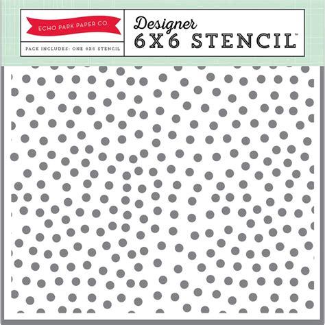 Tensai Number Random Dot echo park 6x6 stencil summer random dots