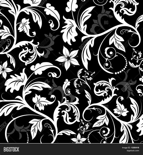 floral pattern all over cdr floral pattern vector vector photo bigstock