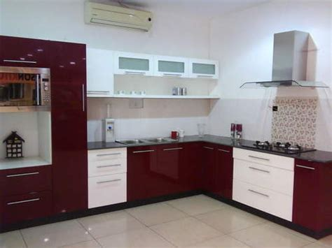 pvc high gloss modular kitchen aggarwal marbles