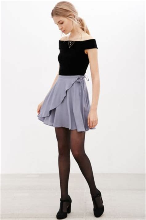 Extremely Menswear Inspired Shoes By Outfitters by Kimchi Blue Ballet Wrap Mini Skirt Outfitters