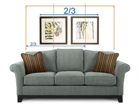 hanging art above sofa hung up perfect wall art every time la z boy arizona