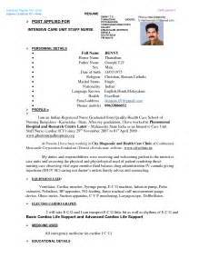 Staff Resume Format Indian Dentist Resume Format
