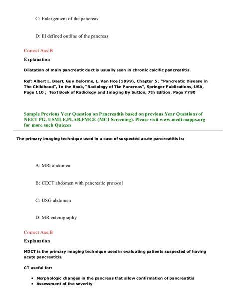 neet pattern questions pulse publications pancreatitis sle questions based on neet pg usmle
