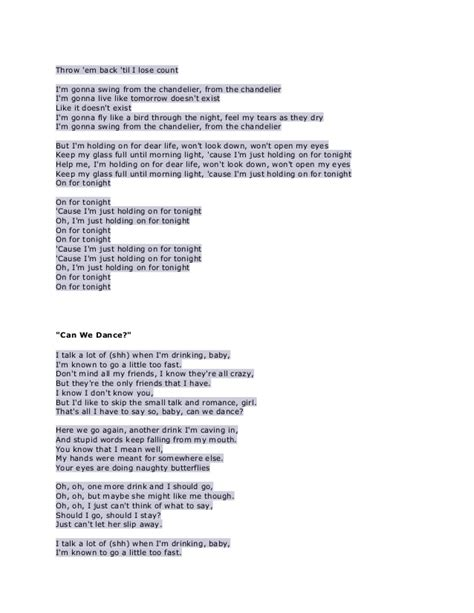 Lyrics Of Chandelier Lyrics Chandelier 28 Images Chandelier By Sia Acoustic Guitar Instrumental Cover With Sia