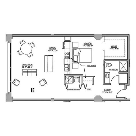 floor plan 1e junior house lofts