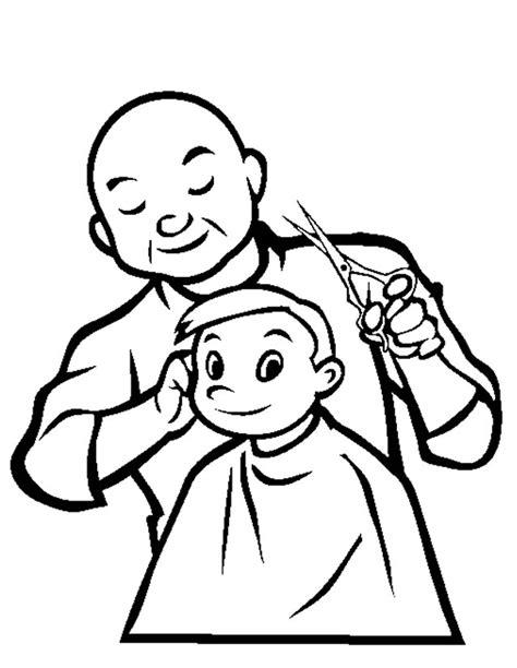 dessins de coloriage coiffeur  imprimer