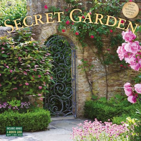 secret garden coloring book barnes and noble 2017 the secret garden wall calendar by workman publishing
