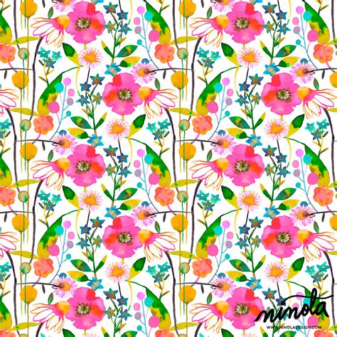 design pattern used in spring ninola spring flowers