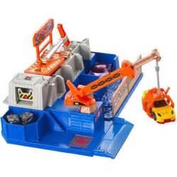 Hot Wheels City Car Crusher Track Set