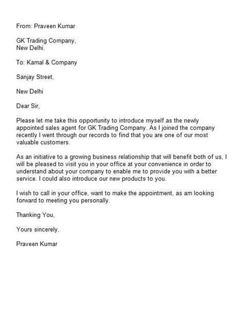 Introduction Letter Asking For A Meeting 40 Letter Of Introduction Templates Exles