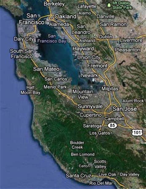 san jose city limits map silicon valley map 4 2011