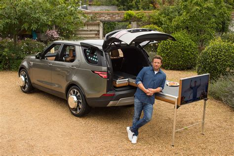 2017 land rover discovery custom land rover turns jamie oliver s discovery into a kitchen
