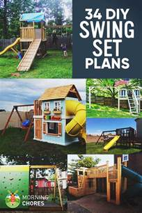 34 free diy swing set plans for your backyard
