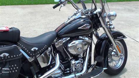 Harley Davidson 87676 Black hd harley davidson heritage softail flstc motorcycle used for sale black see www